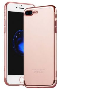 Hoco Glint series electroplated TPU cover for iPhone 7 Plus-Rose Gold