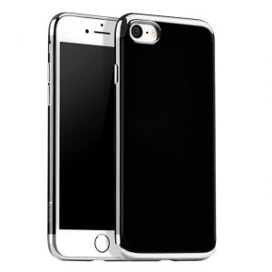 Hoco Obsidian series protective case for iPhone 7 Plus - Silver