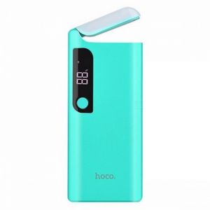 Hoco B27 - 15000 Pusi Mobile Power Bank with Table Lamp - Blue