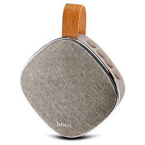 Hoco BS9 Light Textile Desktop Wireless Speaker - Blonde & Brown
