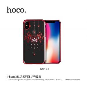 Hoco Diamond Whisper Series Protective Case Dancing Butterfly for Iphone X (New) Red