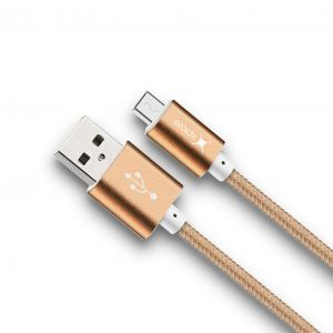 Xplore Metal USB Braided Cable Micro-DC-01AM