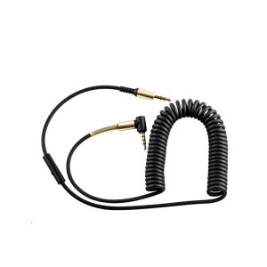Hoco UPA02 AUX Spring Audio with Mic - Black