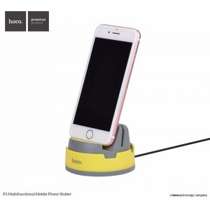 Hoco P3 Multifunctional Mobile Phone Holder - White+Grey