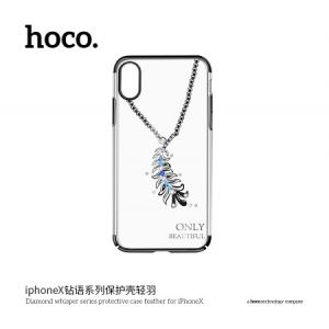 Hoco Diamond Whisper Series Protective Case Feather for Iphone X (New) Black