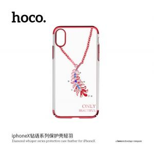 Hoco Diamond Whisper Series Protective Case Feather for Iphone X (New) Red