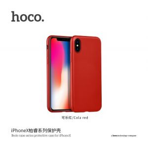 Hoco Bode Raise Series Protective Case for iPhoneX - Cola Red