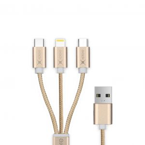 Xplore 3in1 USB Cable Micro Lightning TypeC XP-C3
